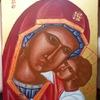 Vierge et Enfant J   20cm X 24cm