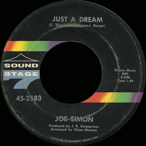 "1968 : Joe Simon : Album "" No Sad Songs "" Sound Stage 7 SSS 15004 [ US ]"