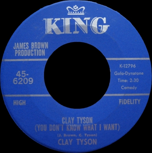 1968 Clay Tyson : Single SP King Records 45-6209 [ US ]