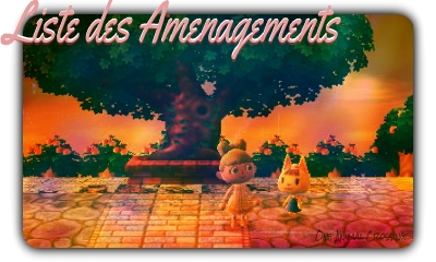 Liste Des Aménagements Animal Crossing New Leaf One Animal Crossing