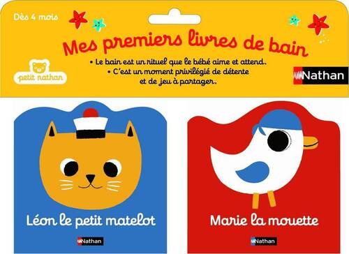 """""""Mes premiers livres de bain"""" des éditions NATHAN"""