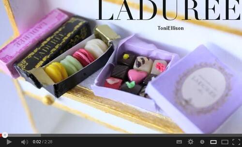 Tutos St Valentin boîte de chocolat  ladurée Toni Ellison