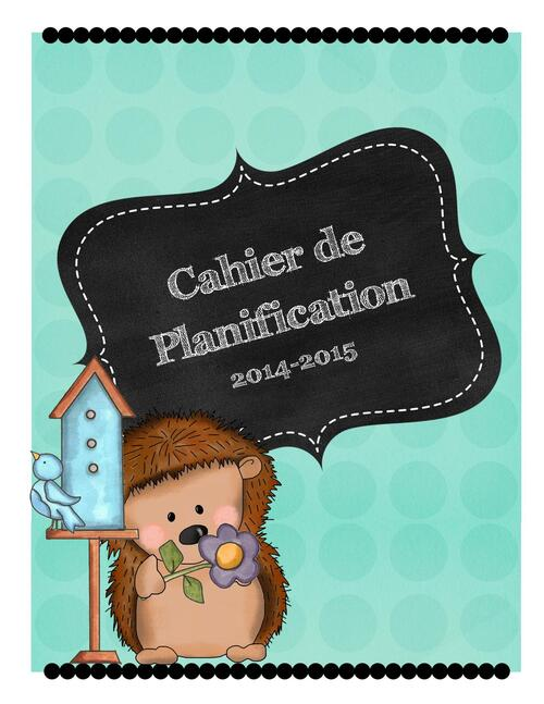 Guide de Planification 2014-2015