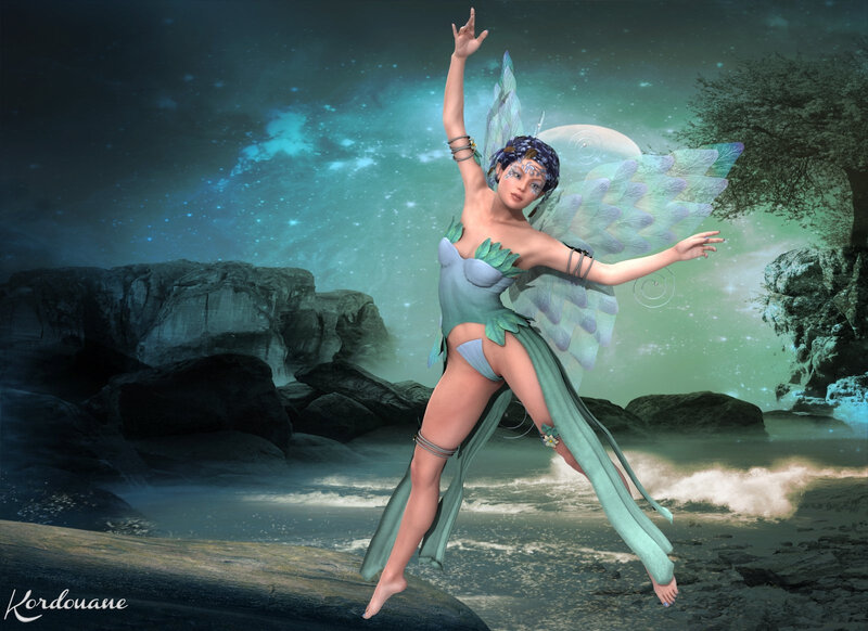 Fond d'écran femme fée fantasy