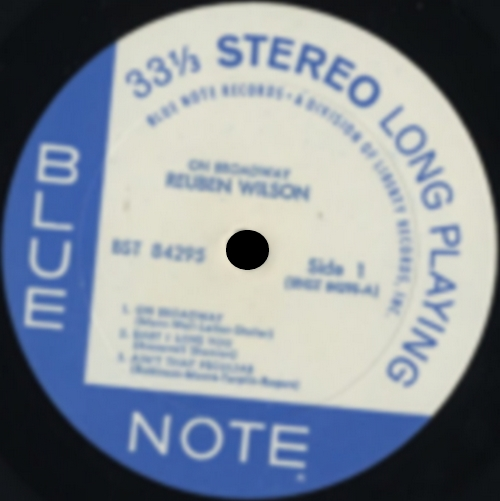 "Reuben Wilson : Album "" On Broadway "" Blue Note Records BST 85295 [ US ]"