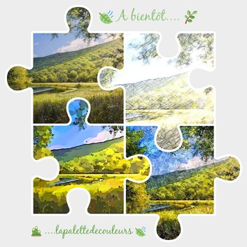 Dessin et peinture - vidéo 3295 : Peindre le vert dans un paysage estival ? - huile, acrylique.