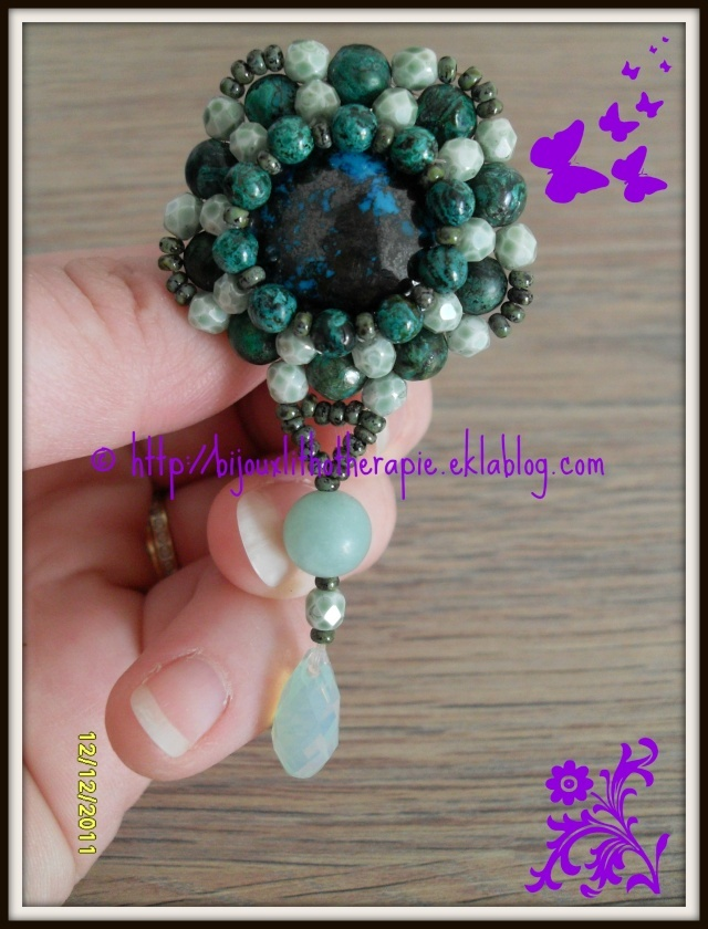 broche chrysocolle