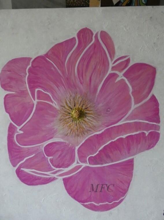 Pivoine  fleur imaginaire