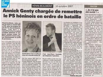 10 10 octobre Annick Genty chargée de remettre le Ps Héninois en ordre de bataille