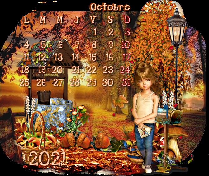 Calendrier Octobre 2021