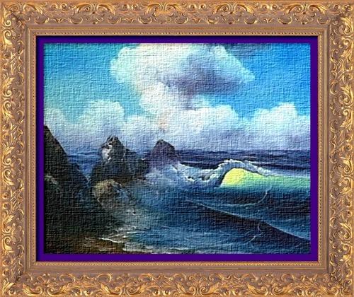 Dessin et peinture - vidéo 2443 : Comment peindre facilement, l'inévitable vague (huile ou acrylique) ?