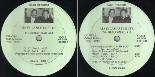 ALVIN CASH Tibute To Muhammad Ali - Private Press Cash records