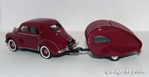 Renault 4cv et sa caravane Ailette