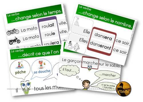 Le verbe - affichages
