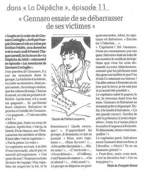 Les aventures de Gennaro Costagliola / Episode 11 / La dépêche