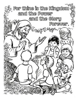 Teaching kids the Lord's prayer