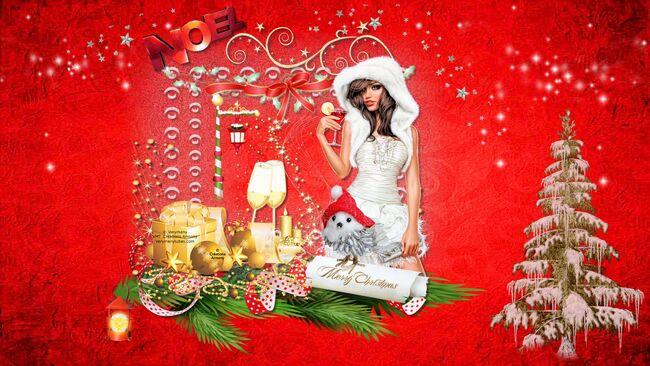Super Tag de Noël + Cluster + Fond 11