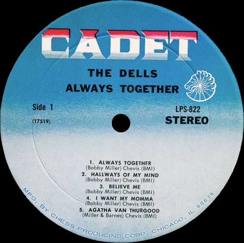 "The Dells : Album "" The Dells Musical Menu / Always Together "" Cadet Records LPS-822 [ US ]"