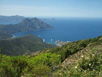 Girolata, Punta Castellacia, Monte Senino et Capu Rossu