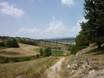 Sur le plateau, vers Saint-Pierre del Forcats et la Cabanasse