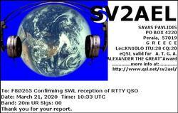 SWL RTTY  BY F80265