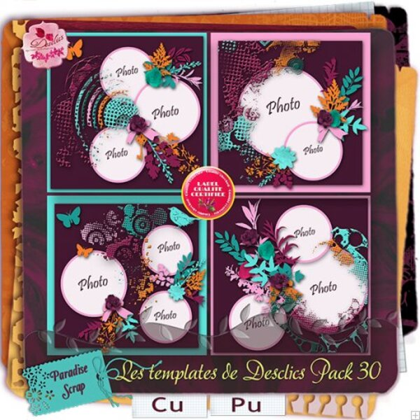 Templates pack 30 de Desclics