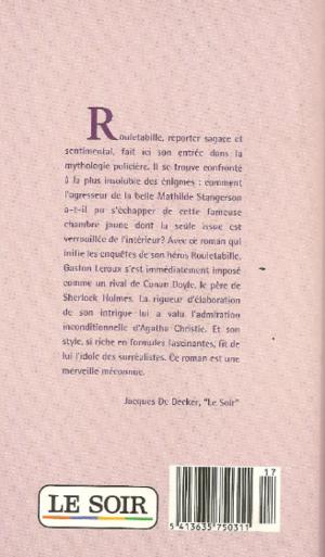Chronique du roman {Le mystère de la chambre jaune}
