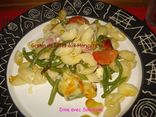 Gratin de Pâtes aux Haricots verts