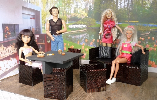 Studio-photos Barbie: la terrasse