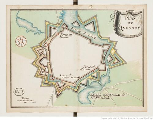 Trente-huit plans de places fortes - Le Quesnoy (XVIIIe s)(gallica)