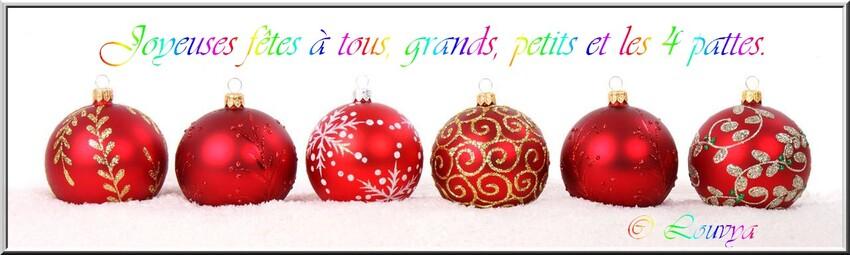 Joyeuses fêtes à tous, Grands, Petits et les 4 pattes