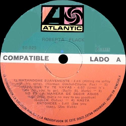 """Roberta Flack : Album """" Roberta Flack """" Atlantic Records 50.025 [ VE ]"""