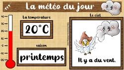Affichage : coin météo français et anglais cp/ce1/ce2