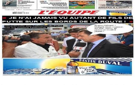 """Tour de France 2010, Gérard Holtz : """"je n'ai jamais vu autant de fils de Putte"""""""
