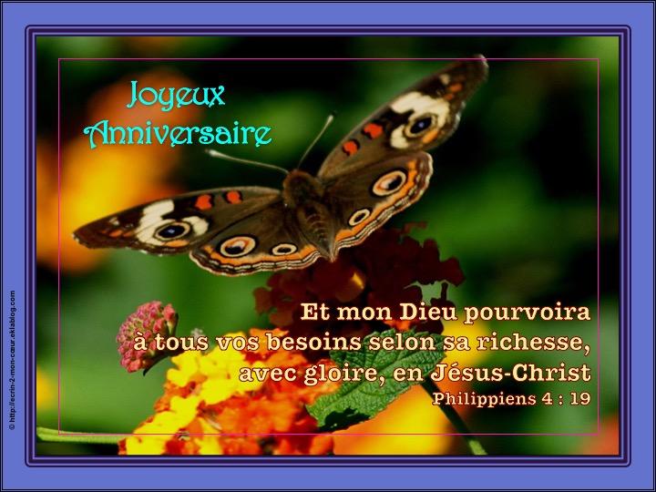 Joyeux Anniversaire - Philippiens 4 : 19