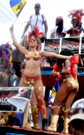 Rihanna au Carnaval en Barbade