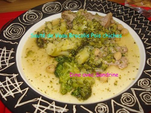 Un Sauté de Veau Brocolis Pois Chiches