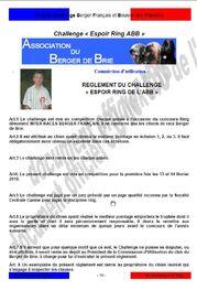 Les Challenges - Espoir Ring ABB