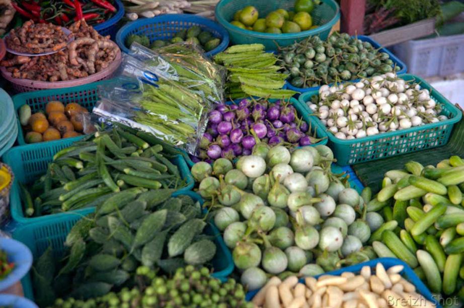 Chak Phet Bangkok le marché de fruits et légumes en gros