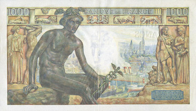 LE BILLET 1000 FRANCS DEESSE DEMETER