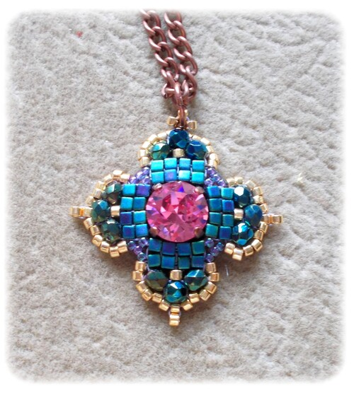 Victoria collection - Pendentif - Rose -