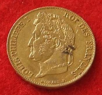 Monnaie 20 francs Louis Philippe Ier  1848 a