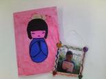 Bricolage: un cadre photo et une carte (fête des mères)
