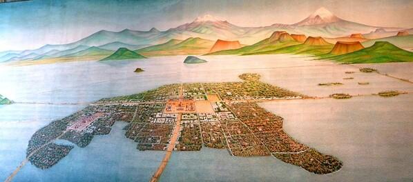 Mexico Musée Carte Tenochtitlan