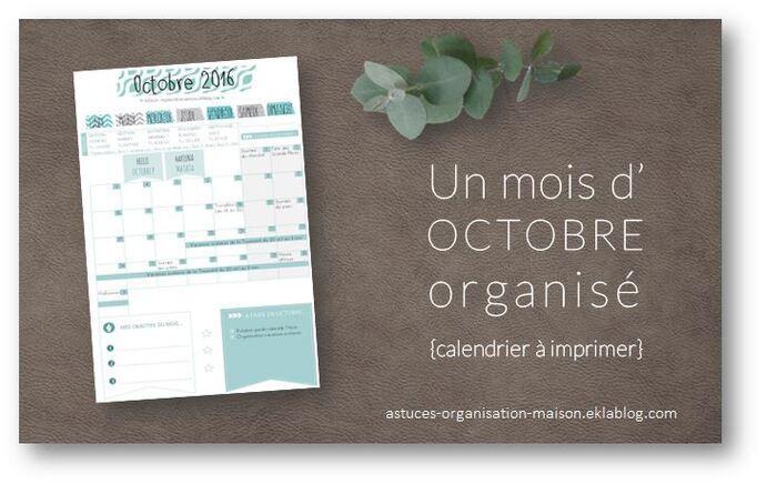 ✿ Un mois d'octobre organisé {calendrier à imprimer}