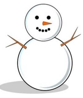 Pin hiver gabarit bonhomme de neige on pinterest - Dessin bonhomme de neige facile ...