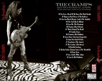 """Le Choix des Lecteurs """" 156: The Cramps - On Broadway - San Francisco - 6 Novembre 1981"""