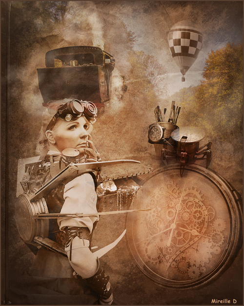 Univers Steam Punk (Photomontage)
