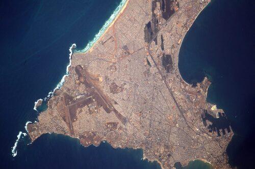 Sénégal vu de la station ISS Thomas Pesquet