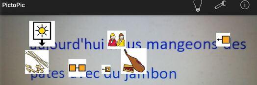 PitoPic : photographier du texte pour l'afficher en pictogrammes Arassac